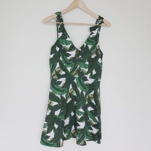 Forever 21 palm print dress size large